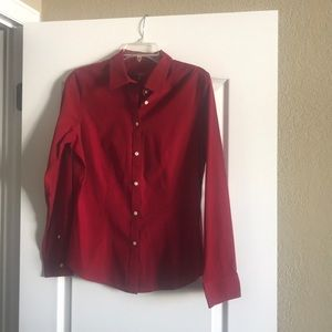 Talbots Button Down Long Sleeve Dress Shirt